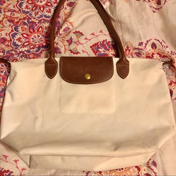 Longchamp Handbags - Longchamp Medium Pilage Tote - 15x10x5 White